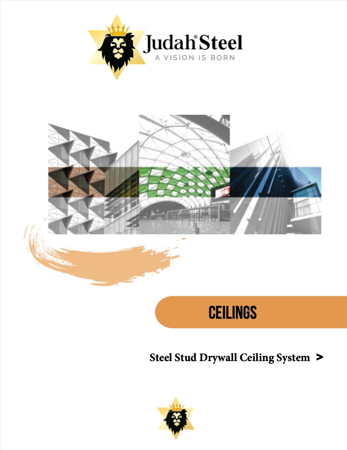 Steel Stud Drywall Ceiling System Section Of The Judah 2020 Professional Design Manual